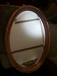 Oak wood oval mirror  Somersworth