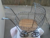 HAND MADE BABY STROLLER (chicken wire)