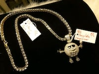 """Iced-Out M Pendent & a Iced-Out 22"""" Chain 30-40$ Ladson, 29456"""