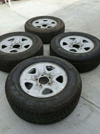 I M.SELLING  4 TIRES FROM MY TOYOTA  IN VERY GOOD CONDITION