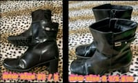 pair of black leather boots Las Vegas, 89169