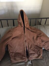 brown suede full zip hoodie Brooklyn Center, 55429