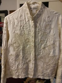 Ladies Blouse/Pearl & Lace Beading New Condition  Clinton, 37716