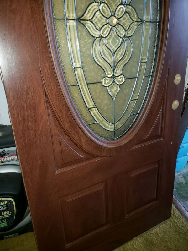 Used Anderson Cherry Wood Entry Door For Sale In Upper