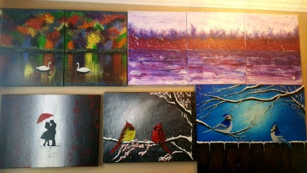 Handpainted acrylic paintings prices starts from