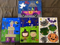 Set of 4 Halloween Canvas  North Bend