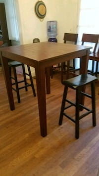 square brown wooden table with two chairs Gaithersburg, 20877