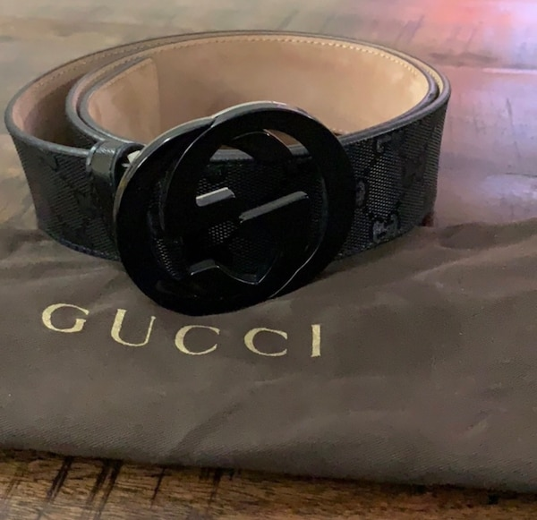 0dbcb0e3c98e Used black Gucci leather belt with black buckle for sale in Huntington -  letgo