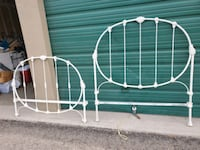 Antique Bed Frame Rod Iron