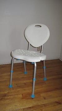 solid white and gray plastic transfer bench MONTREAL