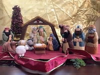 "Adorable 8"" Wooden Christmas Nativity Scene Like New! Virginia Beach"