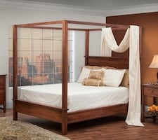 King Sized Wood Canopy Bed Frame