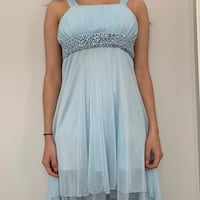 Light blue hi-low party dress (good condition) Pickering, L1V 1T5