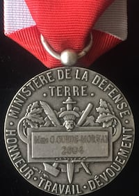 Modern French Ministry of Defence Medal Named to a Woman in 2004 Toronto, M4V 2C1