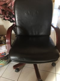 Leather desk office chair