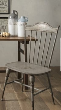 Farmhouse gray metal chair Cromwell, 06416