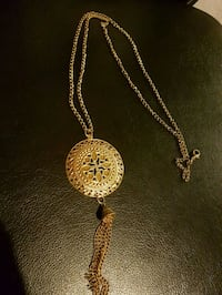 Long gold plated necklace  Whitby