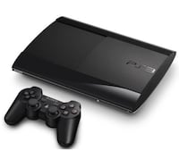 Black sony ps3 super slim console 2 controllers and 25 games.... price negotiable  Vancouver, V6Z 1W4