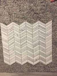 White/grey chevron polished marble mosaics Burlington, L7N 1K3