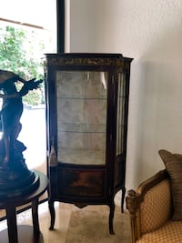 brown wooden framed glass display cabinet Boca Raton, 33433