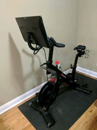 Peloton Bike, Mat, Weights, Ear Plugs, Heart rate monitor