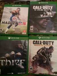 4 Xbox One games/ practically brand new, only pla