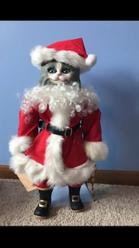 Santa Claus Cat  Porcelain doll Woodstock, 60098