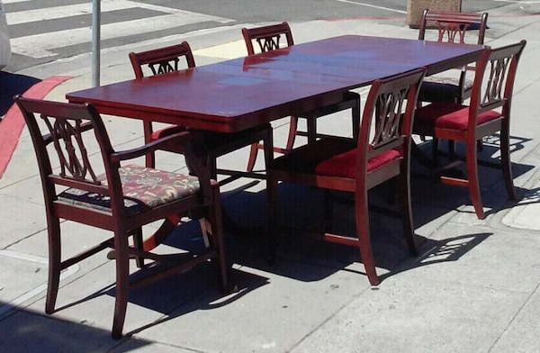 18380 60 X 40 Table With 3 Leaves And 6 Chairs Usado En Venta Oakland Letgo