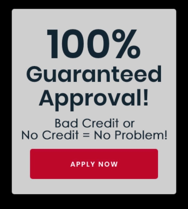 100% IN HOUSE FINANCING APPROVAL