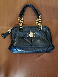 black leather quilted tote bag Vaughan, L4K