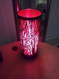 Decorative red lit tree lamp with three strength of light by touch