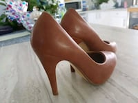 pair of brown leather platform stilettos Hamilton, L8H 1M5