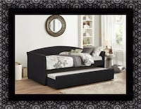 Daybed black with  mattress Bowie, 20716