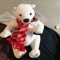 White and red bear plush toy Winnipeg, R3A