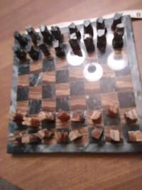 Spanish marble chess set hand carved estate sale Hampton Township, 15101
