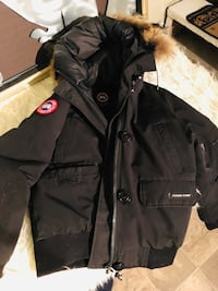 black zip-up parka jacket Toronto, M6B 2L1