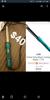 Blue curling wand. Only used a handful of times Decatur, 62521