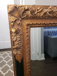 "Large Gold & Black 50"" x 40"" Bevelled Mirror"