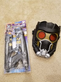 Marvel Guardians of the Galaxy Star Lord Mask and Blaster Springfield