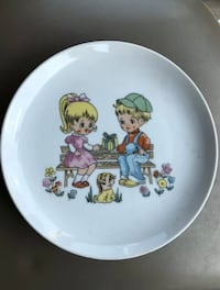 Vintage Painted Japan Plate From 1920's-1940's Pulaski, 39152