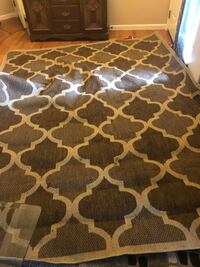brown and white quatrefoil area rug Liberty Lake, 99019