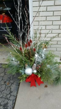 Christmas planter red/ silver 544 km