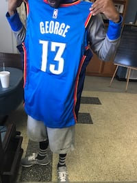 Blue and red 13 paul george basketball jersey Flowood, 39232