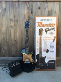 Black Maestro by Gibson electric guitar Vancouver, V5W 2B4