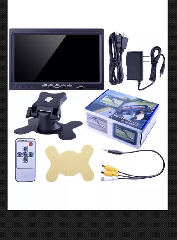 Kuman 7 Inch HD TFT LCD Color Monitor With Remote Condition is New