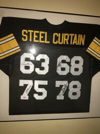 Pittsburgh Steelers Framed Steel Curtain Signed Jersey  New York, 11375