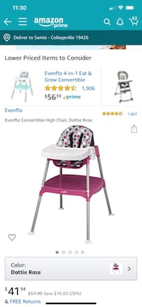 Even Flo 3in one high chair Collegeville, 19426