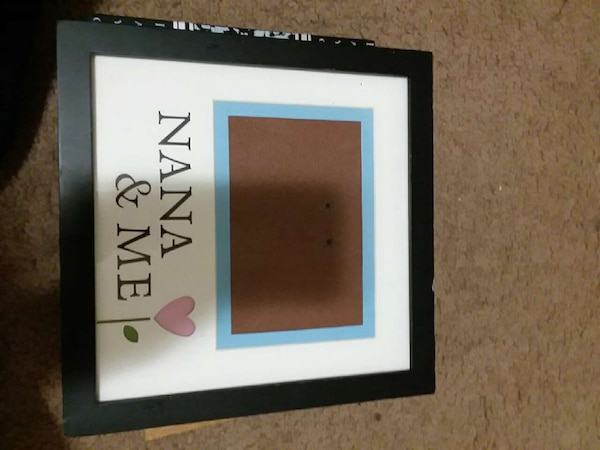Used Square White And Black Nana Me Photo Frame For Sale In