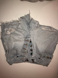 Women's blue denim short shorts 485 km