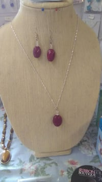 Real Earth Mined Ruby Necklace and Earring set